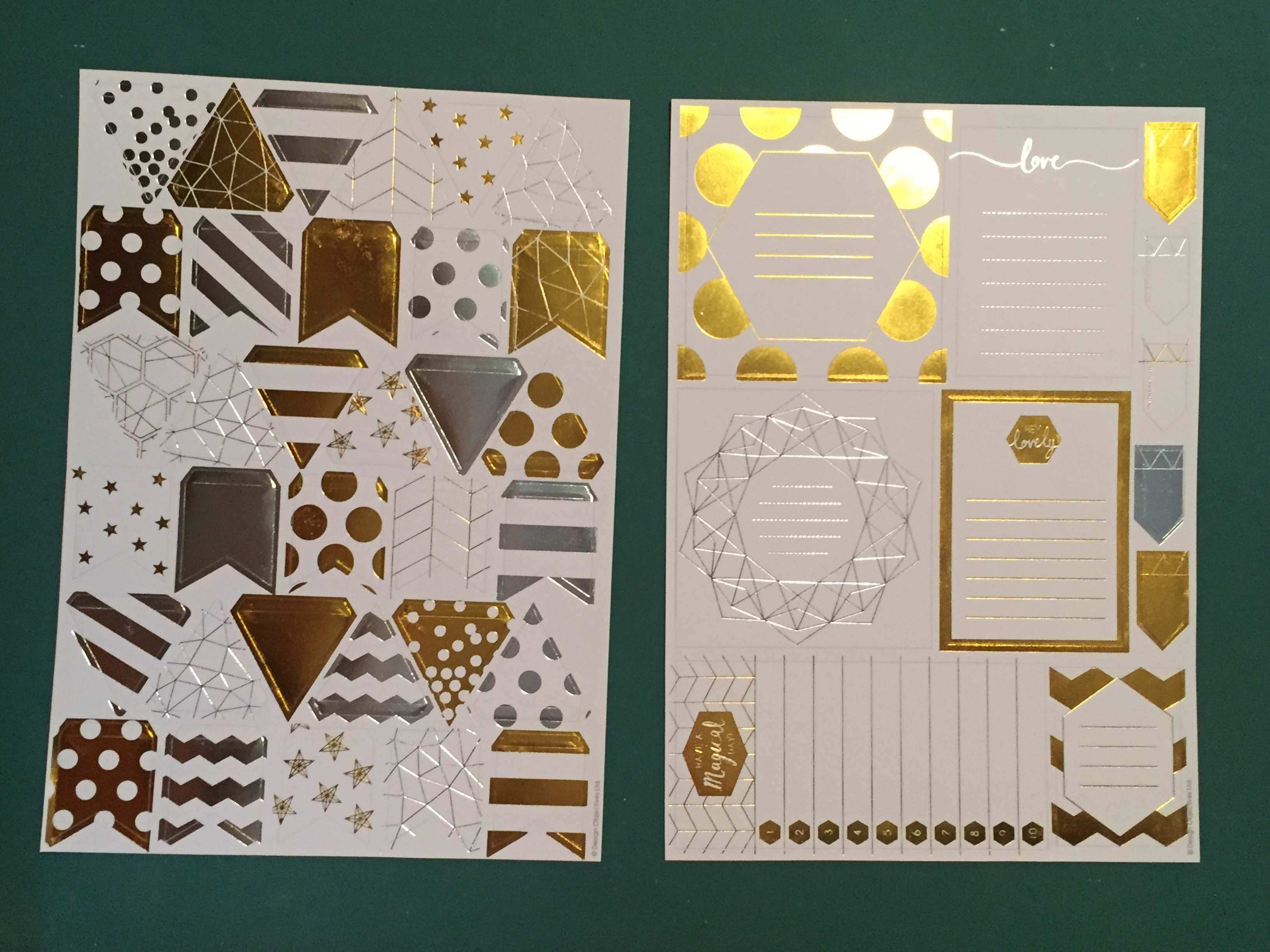 A4 Die Cut Foiled Rectangle /& Square Sentiments Sheet Birthday Various Designs